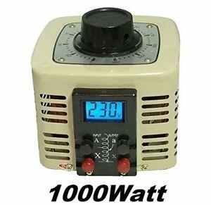 LCD Regeltrafo 1000Watt 4A Ringkerntransformator Stelltrafo Spartrafo