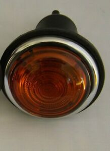 Lucas type L488 side or indicator lamp / light Amber Glass Complete  D/Pole