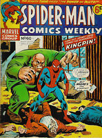 Spider-Man Comics Weekly #60, Marvel UK 1974, featuring Thor and Iron Man.