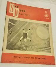 Vintage October 1962 Sky Diver Magazine Collectable