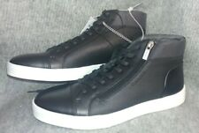 NEW Calvin Klein Balthazar 2 Mens Sz 8.5 Black Lace Up/Zip Up High Top Shoes