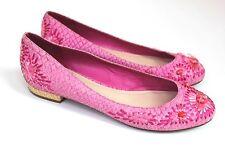 Christian Dior Snakeskin Embroidered Pink flats  38 uk 5