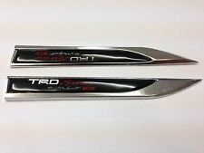 2PCS TRD SPORT METAL SIDE FENDER V EMBLEM BADGE STICKER BLACK