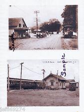 LONG ISLAND NY HALESITE POST OFFICE & NORTHPORT LIRR STA 2 PHOTOS 1900s FreeShip