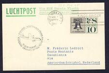 46718) KLM FF Amsterdam - Casablanca 5.11.60, Karte ab USA R!