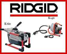 Ridgid K-40 Sink Machine (71722) & Ridgid K-60 Sectional Machine (66497)