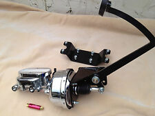 """Ford Model T & Model A 7"""" chrome booster & master cyl w/ residual valve"""
