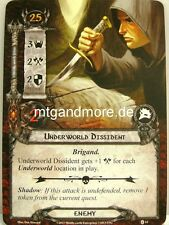 Lord of the Rings LCG  - 2x Underworld Dissident  #014 - The Steward's Fear