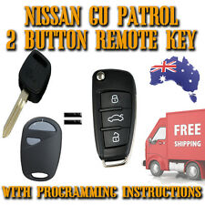 Nissan Patrol GU- 2 Button Remote Key New + Programming Instructions -Inc Post