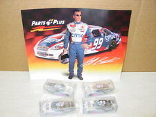 4 Diecast #99 1:64 scale cars Nascar Jeff Burton photo Exide Dated 2000 Racing