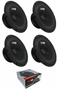 "4 x DS18 8"" 2320W Midrange Loudspeaker 4 Ohm Pro Car Audio PRO-GM8.4"