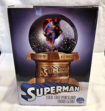 Superman Cold Cast Porcelain Snow Globe DC Comics (With COA)