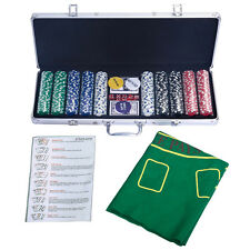 Pokerkoffer Pokerset Poker Set 500 Laser Chips Pokerchips + Tuch + 2 Pokerdecks
