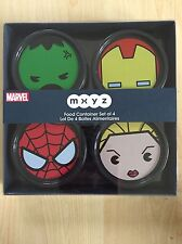 Disney Store Marvel MXYZ Set Of 4 Food Containers BNIB