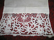 Antique Vintage Pair of Curtain Panels~Hand Made Tape Lace