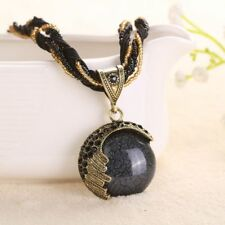 Crystal Handmade Multilayer Retro Vintage Pendant Bead Chain Necklace Jewelry