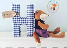 Fabric Letters Decorative Wall Art, With Tag, Personalised, Nursery, Boy, Girl