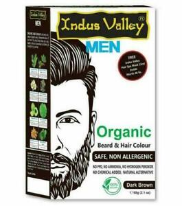 Indus Valley Organic Beard and Hair Colour Safe and non Allergenic 60g (2.1 oz)