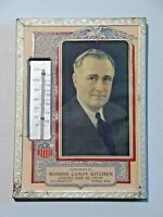 Vintage Framed Advertising Thermometer President T. Roosevelt Monroe Candy Mich.
