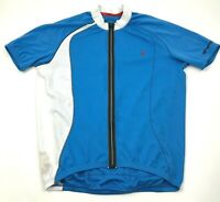 Specialized Cycling Jersey Size Size Large L Shirt Blue Full Zip Short Sleeve T