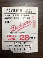 Hank Aaron Career Home Run HR 496 season ticket stub 6/28/68 Atlanta Braves @ LA