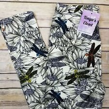 PLUS Dragonfly Leggings Dragonflies Print Floral Buttery Soft Curvy 10-18 TC