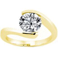 1.50 carat Round Cut Diamond Wedding Solitaire 14K Yellow Gold Ring Si2