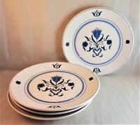 Noritake Blue Haven Bread & Butter Plates (Set of 4) Progression Floral 9004