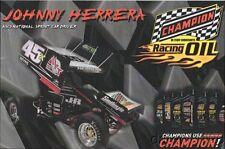 2016 Johnny Herrera Champion Oil PRI Show Promo World Of Outlaws Sprint postcard