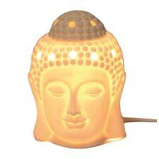 15 cm céramique Thai Bouddha Tête électrique Parfumée Cire Fond Brûleur gratuit Cire Fondre