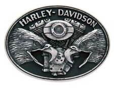 Harley-Davidson Men's Belt Buckle, Screaming Eagle V-Twin, Silver HDMBU10712