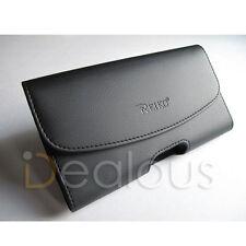 For Motorola Nexus 6P Black Leather Holster Pouch Case Cover Belt Clip