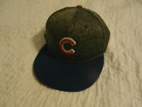 NEW Chicago Cubs Size 7 1/2  Hat Cap Genuine Merchandise Blue,  Dark Gray