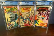 1st Appearance SUPERGIRL #1 Lot ACTION COMICS #252 Adventure #381 CGC First Key