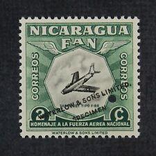 CKStamps: Nicaragua Stamps Collection Scott#756 H OG Punched Hole Color Trial