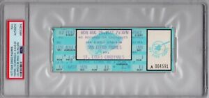 Lou Brock Stolen Base Record 893 Aug. 29, 1977 Cardinals Full Ticket Stub PSA