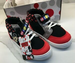 Boys Toddler Child Sneakers Disney Mickey Mouse High Tops Size 10 or 12