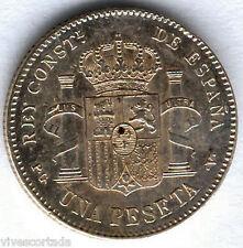Alfonso XIII 1 Peseta 1896 Tupe @ Excelente @