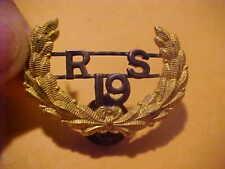G.A.R. Recruiting Service Sutton Nebraska Post 19 For Slouch Hat Or Kepi Emblem