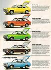 1976 Chevy CHEVETTE Brochure/Catalog: SCOOTER,HATCHBACK,RALLY 1.6,SPORT,WOODY,