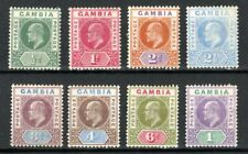More details for gambia 1902-05 values to 1s mh