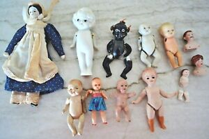 LOT OF VINTAGE DOLL AND PARTS china & bisque