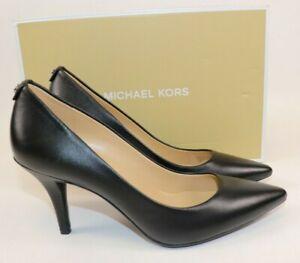 NIB $189 MICHAEL KORS Size 6.5 Women's Black Smooth Leather MK Flex MID Pump