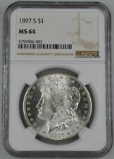 1897-S Morgan Silver Dollar NGC MS 64 - No Reserve Auction .99C Opening Bid