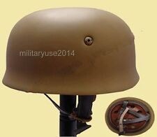 WWII German Fallschirmjager M38 Steel Helmet With Leather Liner Mud – GM035