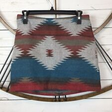 American Eagle Outfitters Womens Size 2 Aztec Print Multicolor Lined Skirt