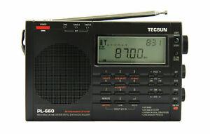 For TECSUN PL660 PLL FM/Stereo MW LW SW SSB AIR Band BLACK English