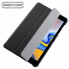 Galaxy Tab A 8.0 Tablet Case Leather Flip Trifold Folding Stand Cover Black
