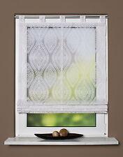 Schlaufenrollo Raffrollo Karl 79346-710 Ausbrenner gemustert Weiß 100 x 140 cm