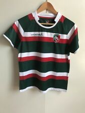Leicester Tigers Kooga Rugby Women's S/S Home Shirt - Size 12 - Green - New